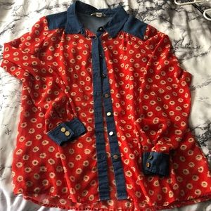 Forever 21 Tops - Red floral top